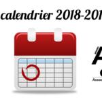 LE CALENDRIER DES COURSES DE CLASSE 8 2018/2019